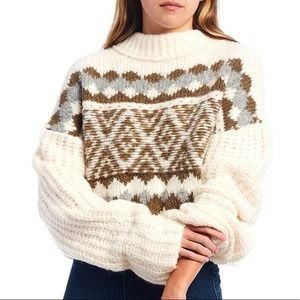 NEW Free People Snowy Forest Alpine Sweater XL
